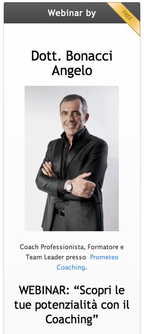 Angelo Bonacci | Coaching Webinar