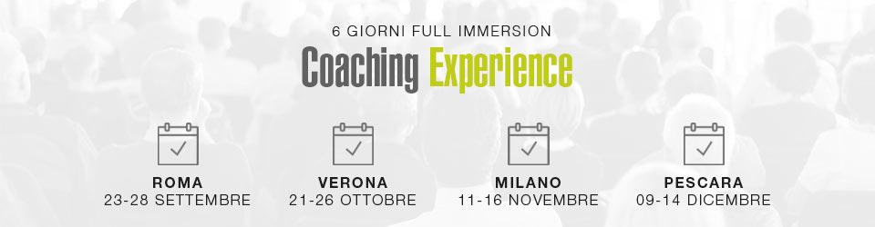 Corso di Crescita Personale Coaching Experience