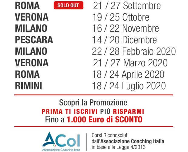 Calendario Corsi di Coaching