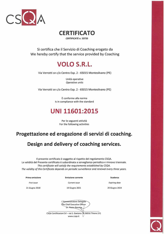Prometeo Coaching® Servizi di Coaching Certificati UNI 11601