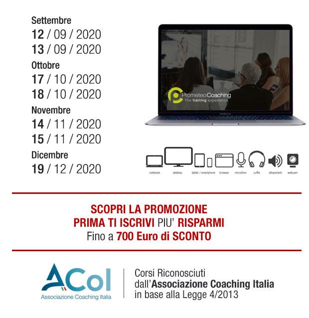 calendario scuola corsi di coaching online